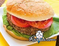 Hamburguesa vegana casera