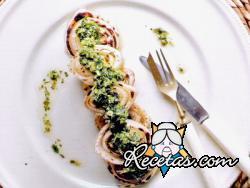 Hinojos grillados con salsa verde