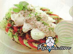 Huevos pochés con salsa de Gorgonzola
