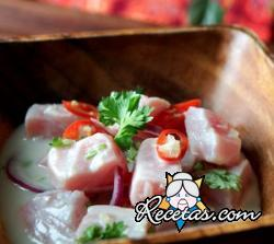 Kinilaw (pescado marinado a la filipina)