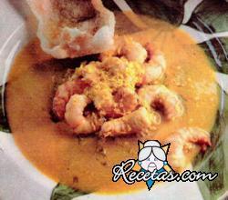 Langostinos cremosos al curry