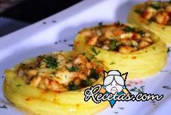 Langostinos o camarones en salsa de ajo