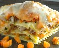 Lasagna de conejo y hortalizas