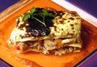 Lasagna de conejo y vegetales
