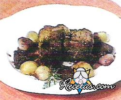 Lomo de cerdo con salsa de romero