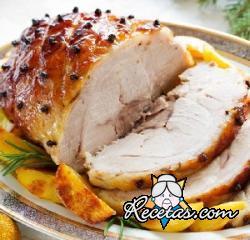 Lomo de cerdo al horno con naranja