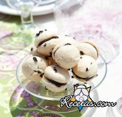 Macarons con perfume a té
