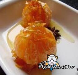 Mandarinas glaseadas al limón