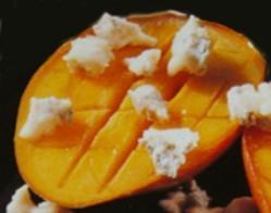 Mangos al queso gorgonzola