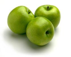 Manzanas acidas caramelizadas con helado de canela