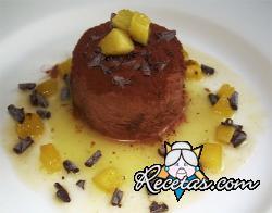 Marquesa de chocolate y mango