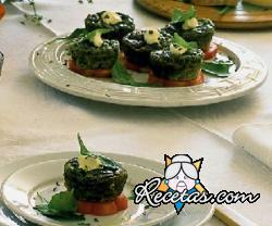 Mini muffins de espinacas
