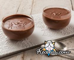 Mousse de chocolate sin huevos