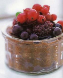 Mousse de Chocolate con Bayas
