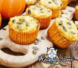 Muffins con jamón y calabaza