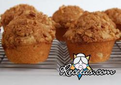 Muffins de banana y nuez