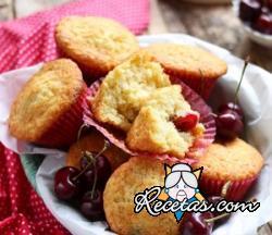 Muffins de cereza