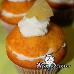 Muffins de jengibre y piña