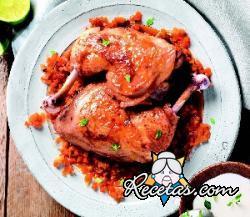Muslos de pollo a los cítricos