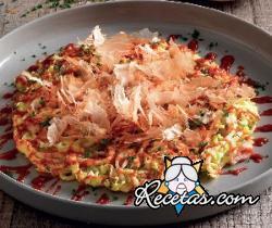 Okonomiyaki, tortilla japonesa