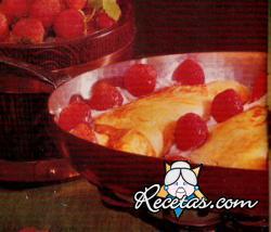 Omelette de fresas