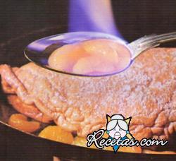 Omelette soufflé flambee