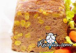 Pan de carne y maíz