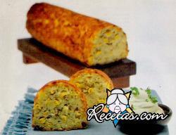 Pan de maíz y puerros