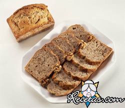 Pan de banana y nueces