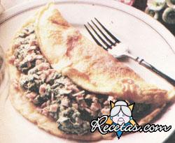 Panqueques con verdura y jamón