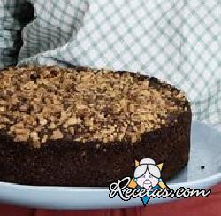 Pastel de cacao y nueces (microondas)