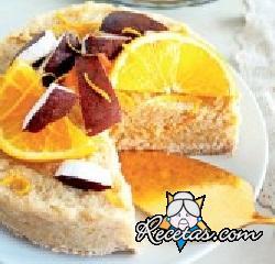 Pastel de naranja y coco