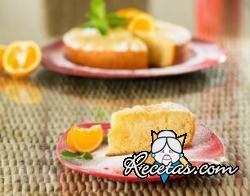Pastel de naranja y menta