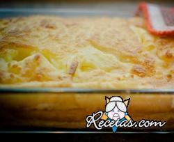 Pastel de polenta y queso