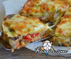 Pastel de verduras y mozzarella
