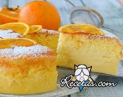 Pastel mágico de naranja