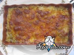 Pastel mallorquín de berenjenas y carne