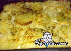 Patatas a la crema de queso azul