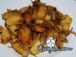 Patatas con cebolla