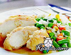 Supremas al horno con queso, panceta y pan rallado
