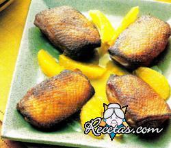 Pechugas de pato a la naranja