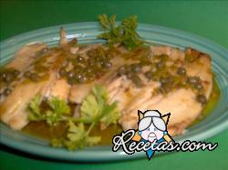 Pescado con salsa de alcaparras