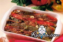 Pimientos morrones con sardinas