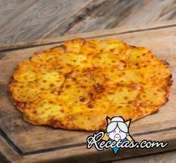 Pizza crujiente de patatas