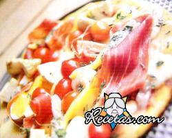 Pizzeta mediterránea