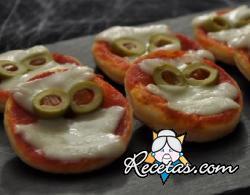 Pizzetas de Halloween