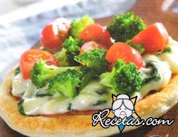 Pizzetas vegetarianas