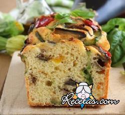 Plum Cake salado con verduras