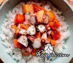 Poke bowl con pulpo y papaya