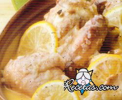 Pollo a la crema de limón